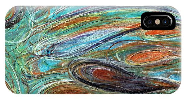Jupiter Explored - An Abstract Interpretation Of The Giant Planet IPhone Case