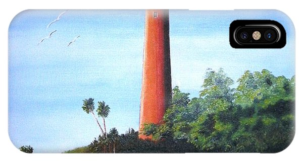 Jupiter Lighthouse And Pilings IPhone Case