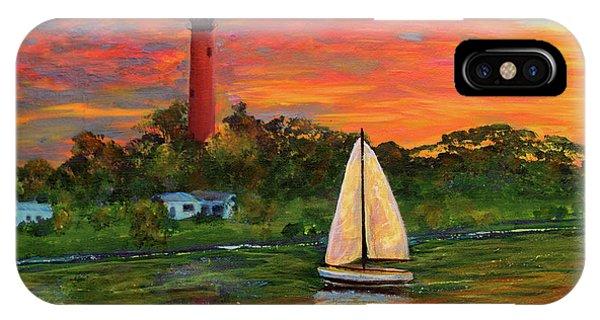 Jupiter Lighthouse Sunrise Alt IPhone Case