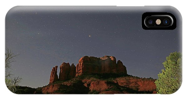 Jupiter Over Cathedral Rock At Midnight IPhone Case
