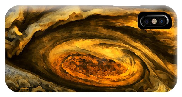 Jupiter's Storms. IPhone Case