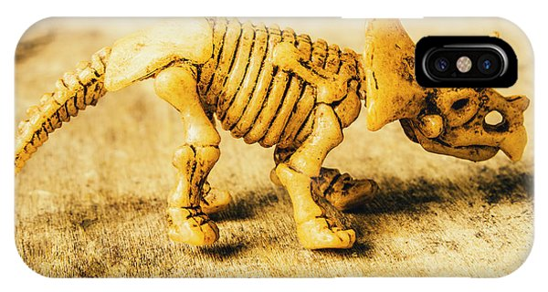 Object iPhone Case - Jurassic Toy Triceratops by Jorgo Photography - Wall Art Gallery