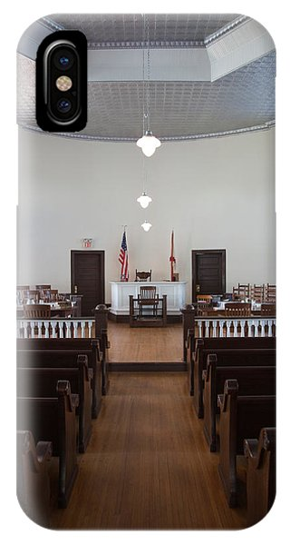 Mockingbird iPhone Case - Jury Box In A Courthouse, Old by Panoramic Images