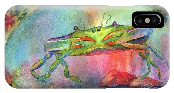 Sea Floor iPhone Case - Just A Little Crabby by Amy Kirkpatrick