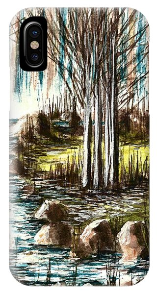 Just Around The Riverbend  IPhone Case
