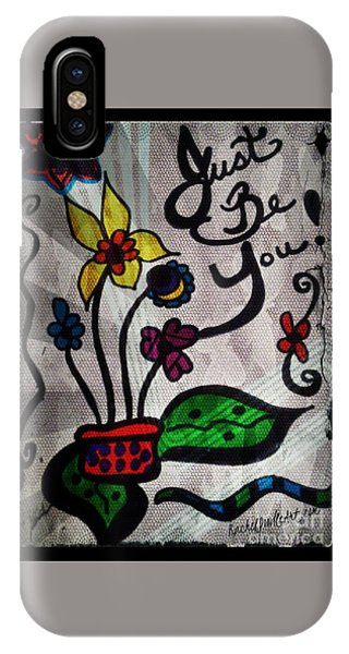 IPhone Case featuring the drawing Just Be You by Rachel Maynard