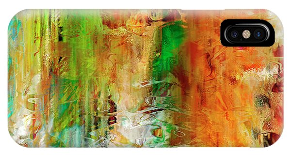 IPhone Case featuring the painting Just Being - Abstract Art by Jaison Cianelli