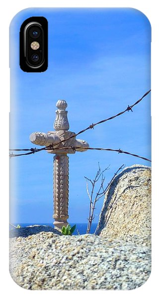 Old Rugged Cross iPhone Case - Just Beyond by Barbie Corbett-Newmin