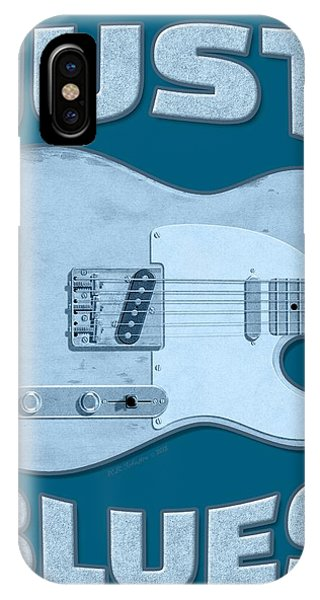 Just Blues Shirt IPhone Case