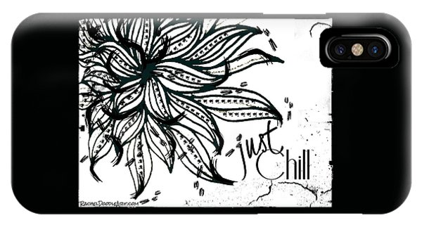 IPhone Case featuring the drawing Just Chill by Rachel Maynard