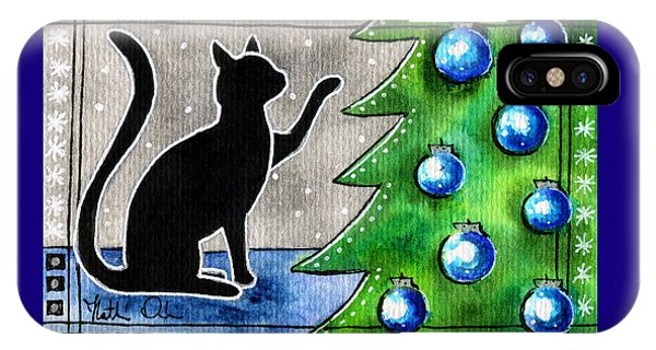 Just Counting Balls - Christmas Cat IPhone Case