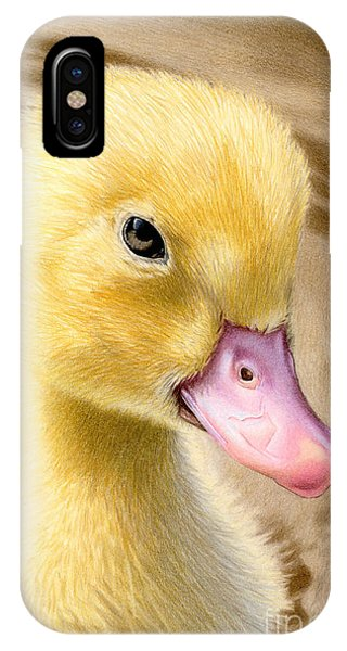 Color Pencil iPhone Case - Just Ducky by Sarah Batalka