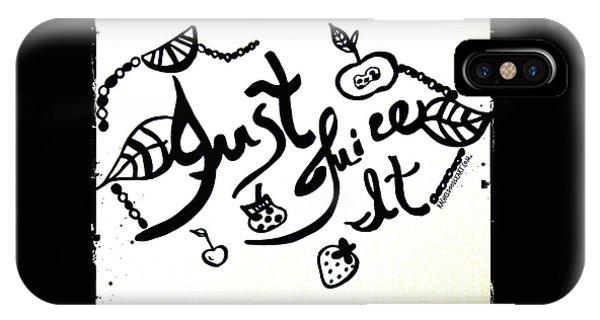IPhone Case featuring the drawing Just Juice It by Rachel Maynard