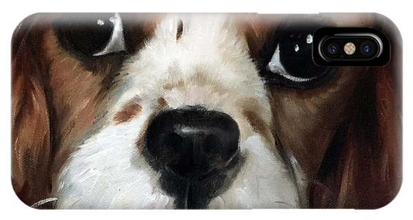 King Charles iPhone Case - Just Sweet by Mary Sparrow