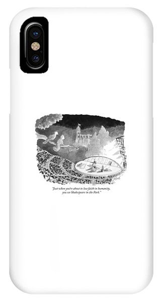 Just When You're About To Lose Faith In Humanity IPhone Case