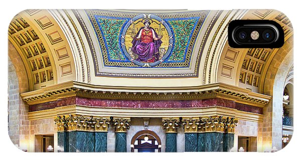 Justice Mural - Capitol - Madison - Wisconsin IPhone Case