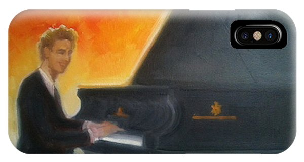 Justin Levitt At Piano Red Blue Yellow IPhone Case