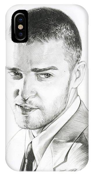 Justin Timberlake Drawing IPhone Case