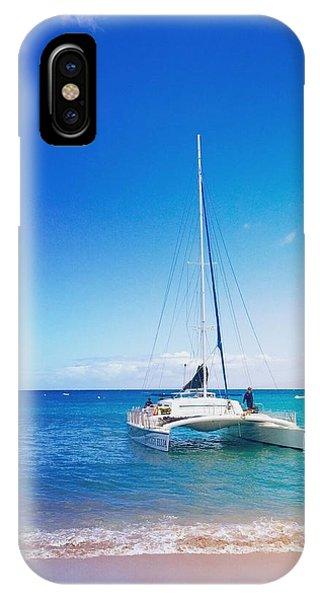 Catamaran iPhone Case - Kaanapali Sail In Maui by Stacia Weiss