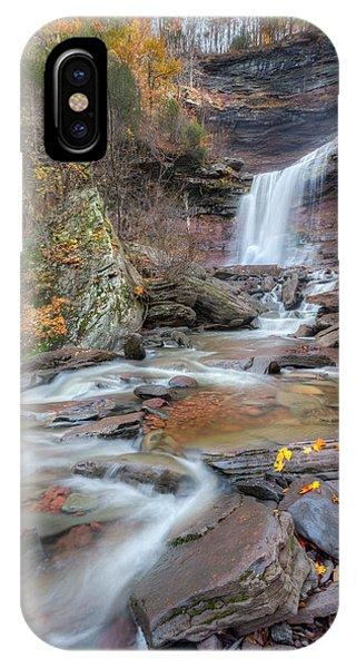 Kaaterskill Falls Autumn Portrait IPhone Case