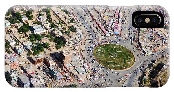 Kabul Traffic Circle Aerial Photo IPhone Case