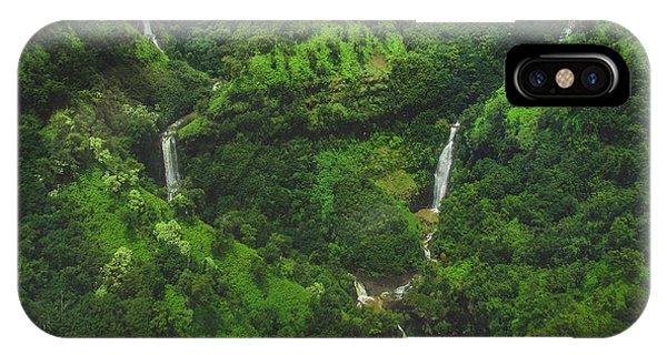 Kahili Falls Aerial IPhone Case