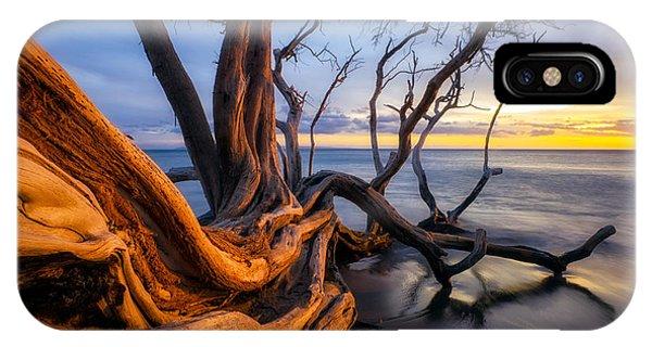 Black Sand iPhone Case - Kailiili Sunset by Christopher Johnson