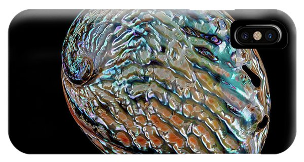 IPhone Case featuring the photograph Kaleidoscope Abalone by Rikk Flohr