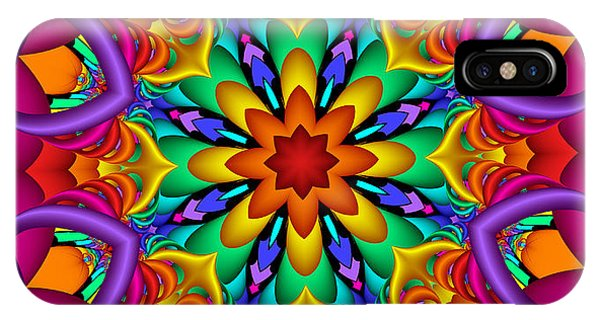 Kaleidoscope Flower 01 IPhone Case