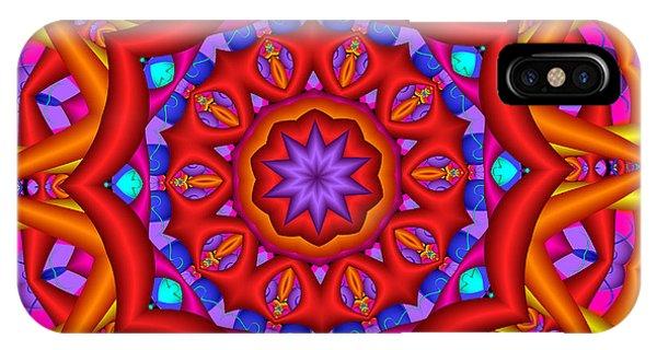 Kaleidoscope Flower 02 IPhone Case
