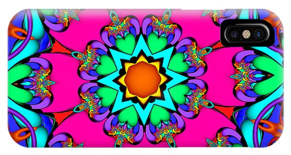 Kaleidoscope Flower 03 IPhone Case