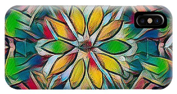 Kaleidoscope In Stained Glass IPhone Case