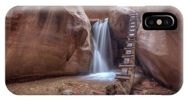 IPhone Case featuring the photograph Kanarra Creek Falls by Paul Schultz