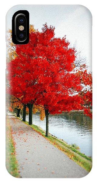 Kanawha Boulevard In Autumn IPhone Case