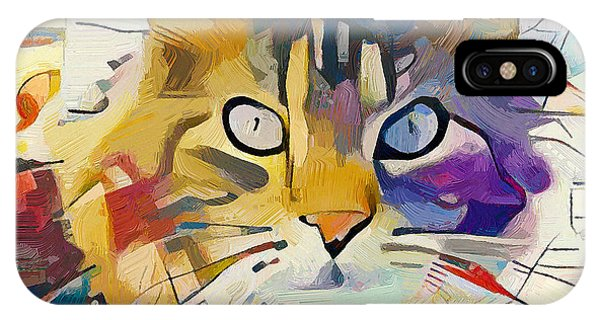 Exterior iPhone Case - Kandinsky Cat by Yury Malkov