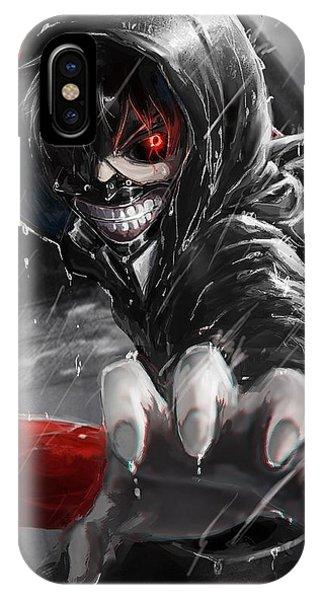 Kaneki Ken Tokyo Ghoul Look Gesture Claw Rain 99380 1080x1920 IPhone Case