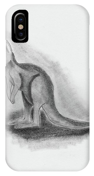 Kangaroo Drawing IPhone Case