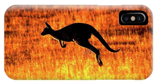 Kangaroo Sunset IPhone Case