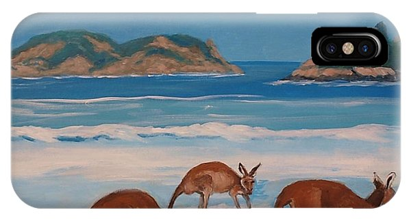 Kangaroos On The Beach IPhone Case