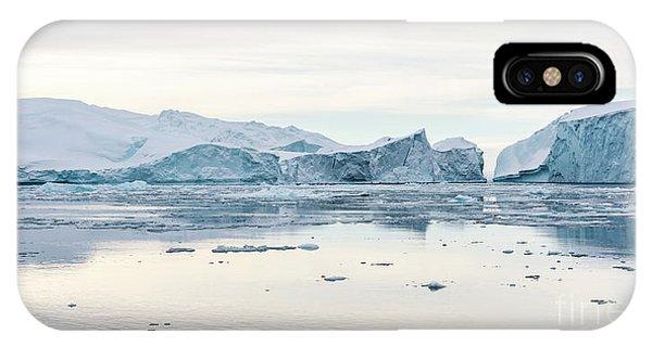 Glacier Bay iPhone Case - Kangia Icefjord by Janet Burdon