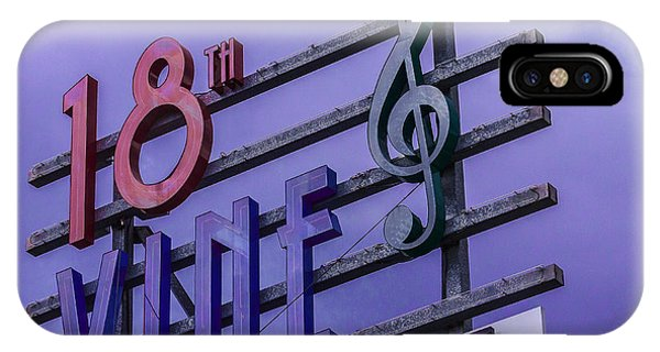 Kansas City 18th And Vine Sign IPhone Case