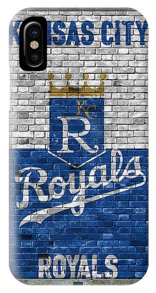 Iphone 4 iPhone Case - Kansas City Royals Brick Wall by Joe Hamilton