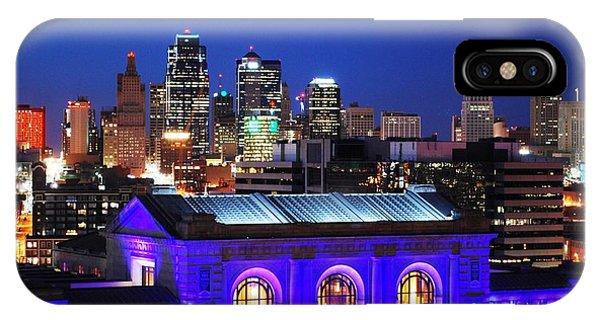 Kansas City Skyline At Night IPhone Case