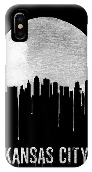Midwest iPhone Case - Kansas City Skyline Black by Naxart Studio