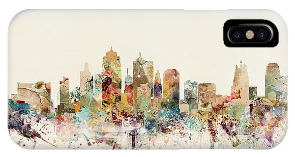 Missouri iPhone Case - Kansas City Skyline by Bri Buckley