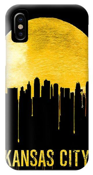 Midwest iPhone Case - Kansas City Skyline Yellow by Naxart Studio