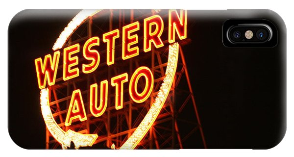 Kansas City Western Auto IPhone Case