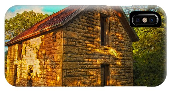 Kansas Countryside Stone House IPhone Case