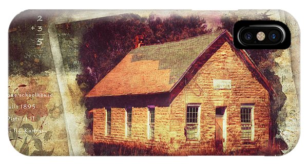 Kansas Old Stone Schoolhouse IPhone Case