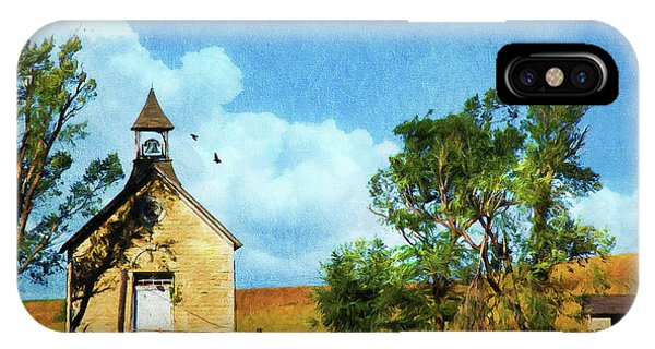 Kansas Prairie Schoolhouse IPhone Case
